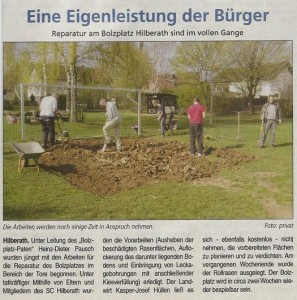 Rasenreparatur Boltzplatz Hilberath