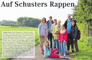 Auf Schusters Rappen, 01. Oktober im Blickpunk